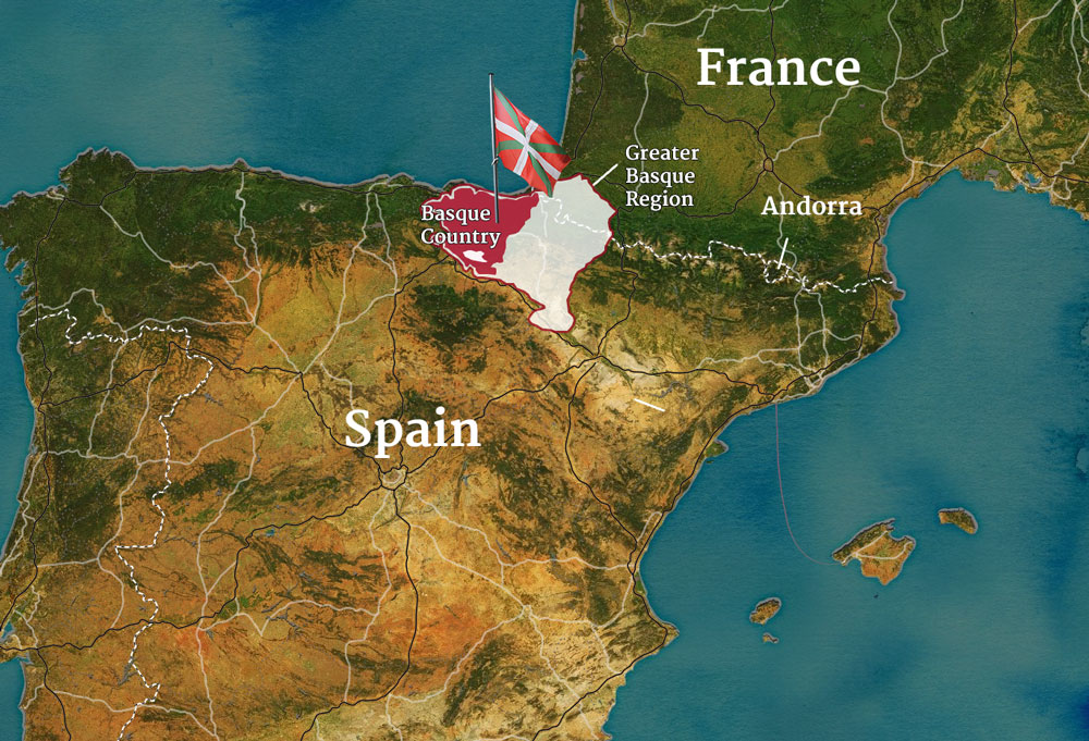 The Fight For The Basque - Basque centers us map